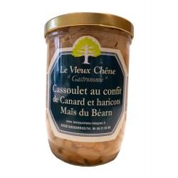 Cassoulet au confit de canard et haricots Maïs du Béarn