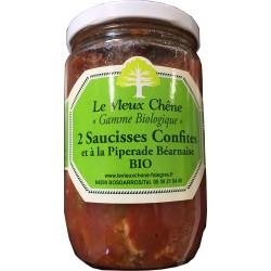 2 Saucisses Confites et à la Piperade Béarnaise BIO