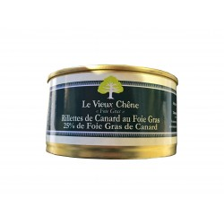 Rilettes de canard au foie gras 25% de Foie gras de canard