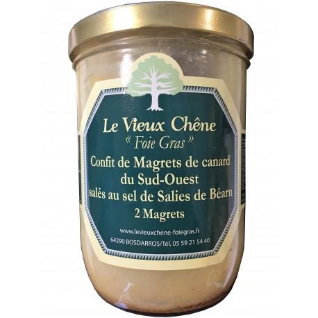 Confit de Magret de canard du Sud Ouest salés au sel de Salies de Béarn 2 Magrets